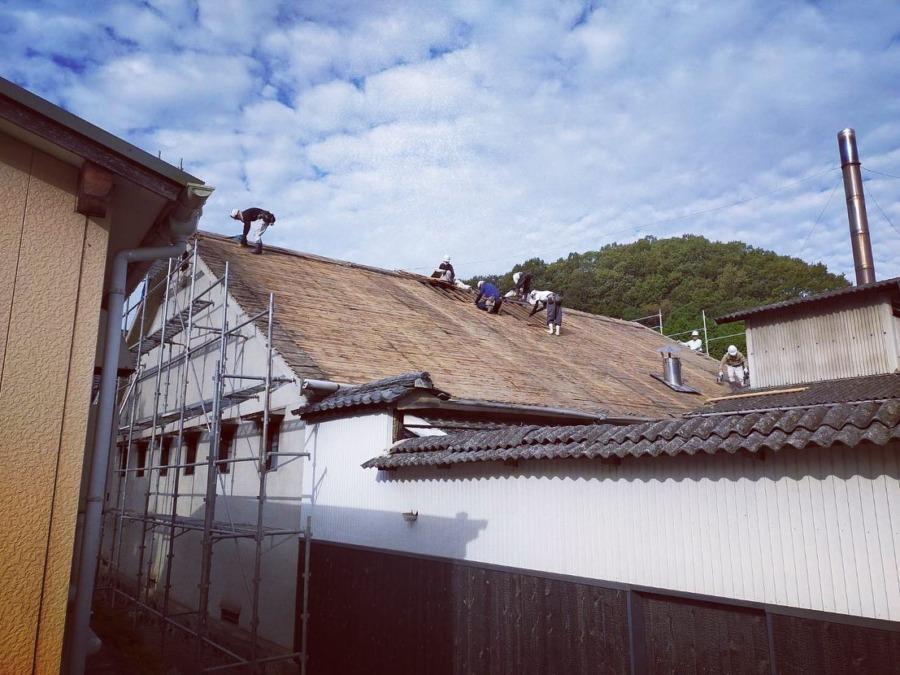 屋根の修理その2