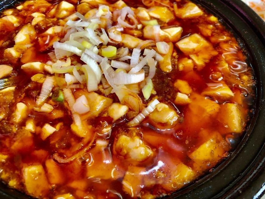 四季紅の麻婆豆腐